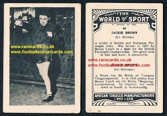 1930's South African Tobacco World boxer Jackie Brown